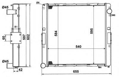 NRF 58827 Радиатор системы охлаждения