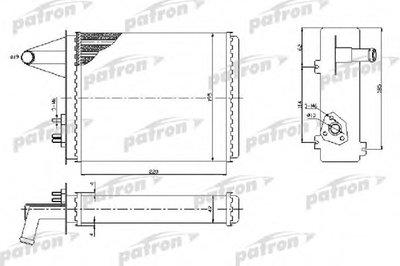 Автозапчасть/Радиатор отопителя fiat palio 1.01.21.41.4kat1.51.6 PATRON PRS2093 для авто FIAT с доставкой