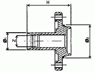 486005 RUVILLE Ступица колеса ROMEO 147; 156; 164; GTV; SPIDE Диаметр 1/диаметр 2 (мм)-42,0/59,0,  Высота [мм]-70,  Число отверстий в диске колеса-5,  Внутренне зубчатое