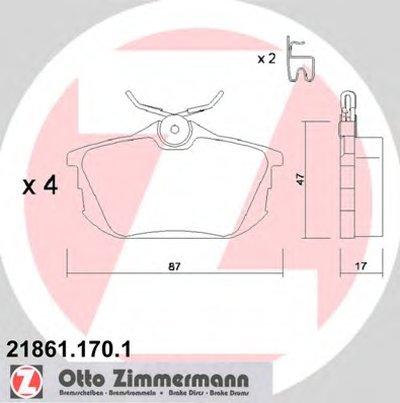 Колодки Тормозные Дисковые Mitsubishivolvo ZIMMERMANN 218611701 для авто MITSUBISHI, SMART, VOLVO с доставкой