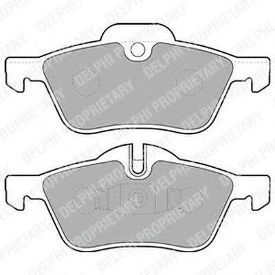 Lp1657_!колодки Дисковые П. Mini Mini Cooperone 1.4I1.6I1.4D 01 DELPHI LP1657 для авто MINI с доставкой