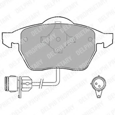"""Гальмівні колодки дискові AUDI/FORD/SEAT/VW 100/A4/A6/Galaxy/Alhambra/Sharan """"F """"91-00"""