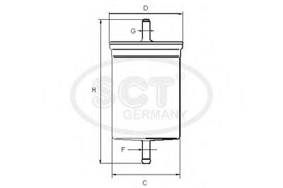 ST314 SCT GERMANY Топливный фильтр