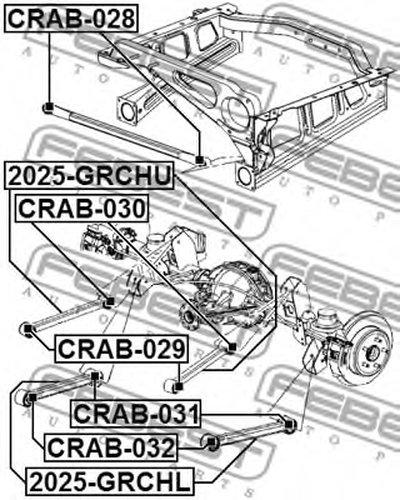 Рычаг Подвески Задний FEBEST 2025GRCHU для авто JEEP с доставкой