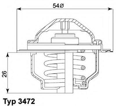 Термоастат AUDI;SEAT;SKODA;Volkswagen (пр-во Wahler)