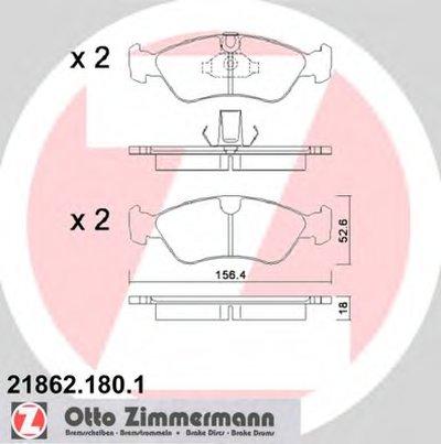 Колодки Тормозные Дисковые Daciapeugeotrenault ZIMMERMANN 218621801 для авто DAEWOO, OPEL с доставкой