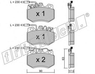 Комплект тормозных колодок, дисковый тормоз fri.tech. купить