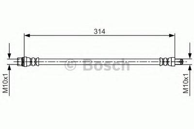 1987481718 BOSCH Тормозной шланг