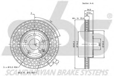 203359V_диск тормозной передний!\ MB W211 1.8-2.8 02> SBS 1815203359 для авто MERCEDES-BENZ с доставкой-1