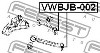 VWBJB002 FEBEST ремонтный комплект, несущие / направляющие шарниры -1