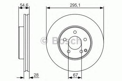 Тормозной диск Bosch BOSCH 0986479R99 для авто MERCEDES-BENZ с доставкой
