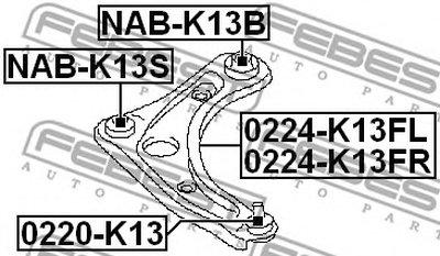 Сайлентблок FEBEST NABK13B