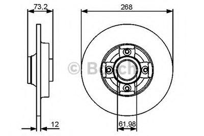 Гальмівний диск Citroen Berlingo, C4 2010- без подшипника R