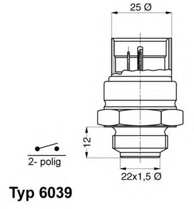 603995D WAHLER Термовыключатель, вентилятор радиатора