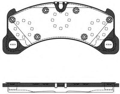 Колодка торм. PORSCHE CAYENNE 2010-,VW TOUAREG 2010 передн. (пр-во REMSA)