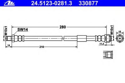 24512302813 ATE Тормозной шланг