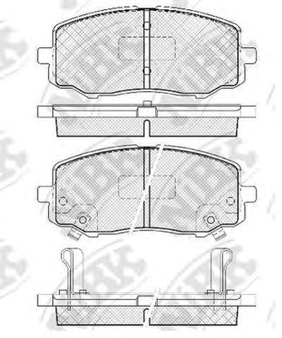 Автозапчасть/nibk Колодки тормозные дисковые pn0448 NIBK PN0448 для авто  с доставкой