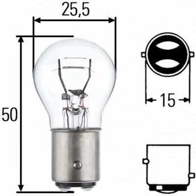 Лампа накаливания, фонарь указателя поворота; Лампа накаливания, фонарь сигнала тормож./ задний габ. огонь; Лампа накаливания, задняя противотуманная фара; Лампа накаливания, фара заднего хода; Лампа накаливания, задний гарабитный огонь; Лампа накаливания, фонарь освещения багажника; Лампа накаливания, стояночные огни / габаритные фонари; Лампа нак HELLA купить