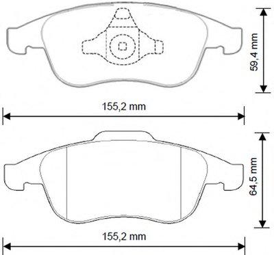 Колодки дискового тормоза (пр-во Jurid) JURID 573268J