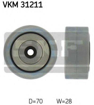 Фотография Паразитный / ведущий ролик, поликлиновой ремень SKF VKM31211