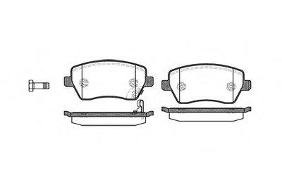 Колодка торм. SUZUKI SWIFT передн. (пр-во REMSA)