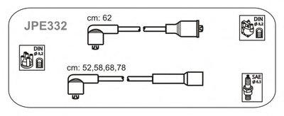 Дроти високої напруги Nissan Micra 1,0/1,2 85-92 JANMOR JPE332 для авто ASIA MOTORS, MAZDA, NISSAN с доставкой