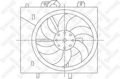 Вентилятор, охлаждение двигателя STELLOX купить