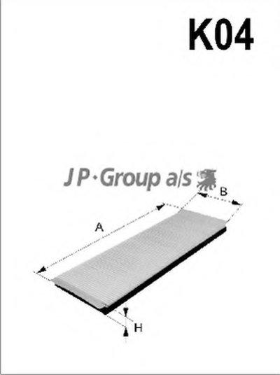 1528101609 JP GROUP Фильтр, воздух во внутренном пространстве