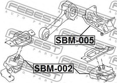 Подушка двигателя FEBEST SBM005-1