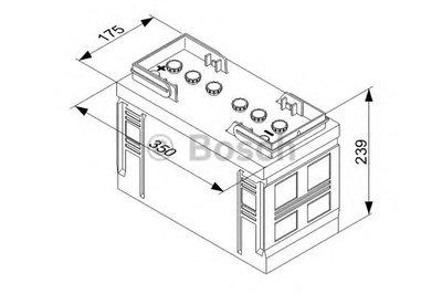 Стартерная аккумуляторная батарея; Стартерная аккумуляторная батарея T3 BOSCH купить