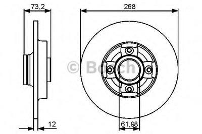 Гальмівний диск Citroen Berlingo, C4 2010- с подшипником R