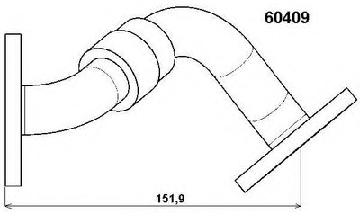 60409D WAHLER Трубка, клапан возврата ОГ
