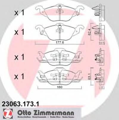 передние Opel Astra G 1.2-1.8i ZIMMERMANN 230631731 для авто OPEL с доставкой