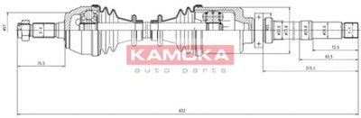 Приводной вал KAMOKA KAMOKA купить