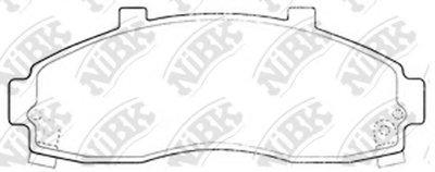 Автозапчасть/Колод. торм. диск. nibk pn0664 NIBK PN0664 для авто  с доставкой
