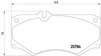 Фотография Комплект тормозных колодок, дисковый тормоз MINTEX MDB1585