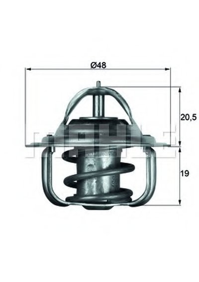TX588D BEHR Термостат, охлаждающая жидкость