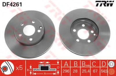 Диск Тормозной TRW DF4261 для авто MERCEDES-BENZ с доставкой