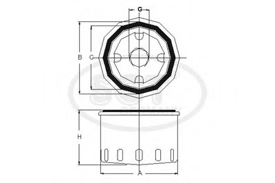 SM110 SCT GERMANY Масляный фильтр