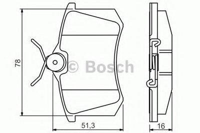 0986495231 BOSCH Комплект тормозных колодок, дисковый тормоз