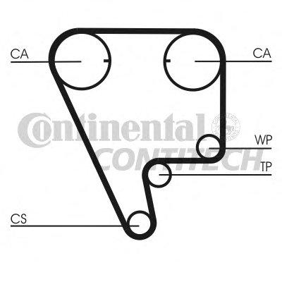 CT804 CONTITECH Ремень зубчатый грм-13
