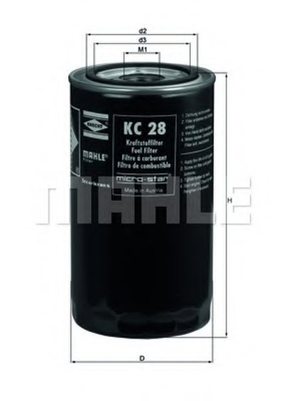 KC28 KNECHT Топливный фильтр