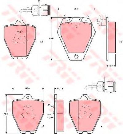 Гальмівні колодки дискові AUDI A8/A8 Quattro