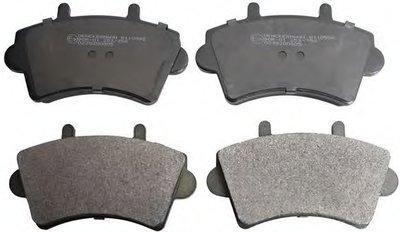 B110582 DENCKERMANN Колодки тормозные дисковые передние