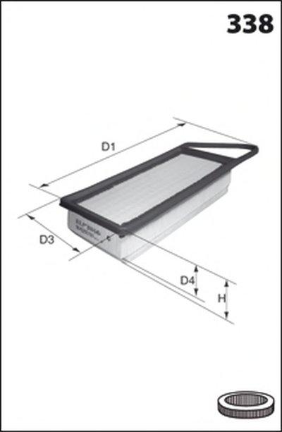 ELP9233 MECAFILTER Воздушный фильтр