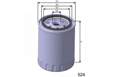 Z621 MISFAT Масляный фильтр