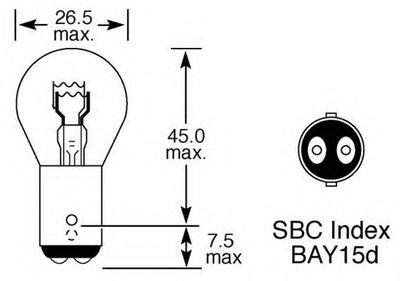 Лампа накаливания, фонарь указателя поворота; Лампа накаливания, фонарь сигнала торможения; Лампа накаливания, задняя противотуманная фара; Лампа накаливания, задний гарабитный огонь; Лампа накаливания, стояночный / габаритный огонь; Лампа накаливания, дополнительный фонарь сигнала торможения Upgrade 24/7 Long Life LUCAS ELECTRICAL купить
