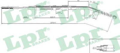 Трос, стояночная тормозная система LPR купить
