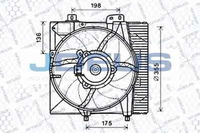 Вентилятор, охлаждение двигателя JDEUS купить