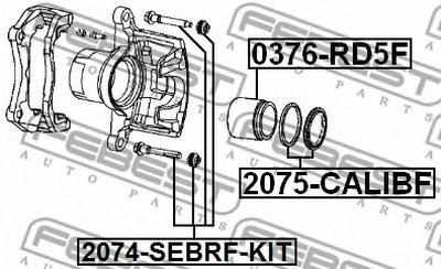 Ремкомплект Суппорта Тормозного Переднего FEBEST 2075CALIBF для авто DODGE с доставкой
